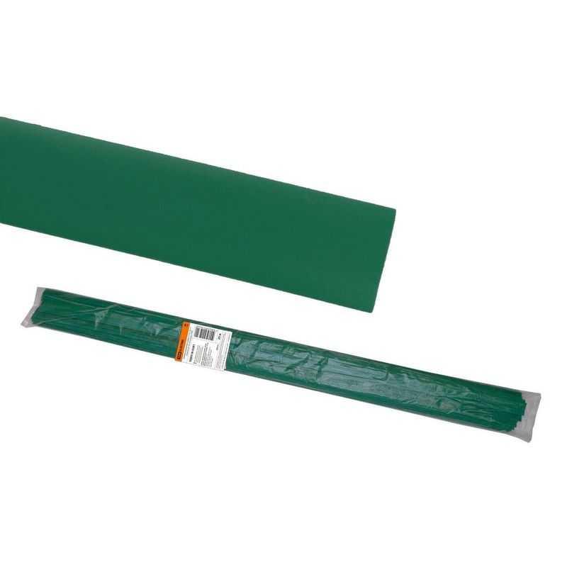 Термоусаживаемая трубка ТУТнг 30/15 зеленая по 1м (25 м/упак) TDM