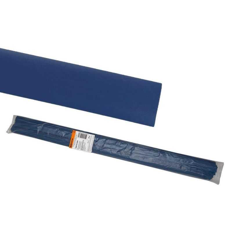 Термоусаживаемая трубка ТУТнг 30/15 синяя по 1м (25 м/упак) TDM