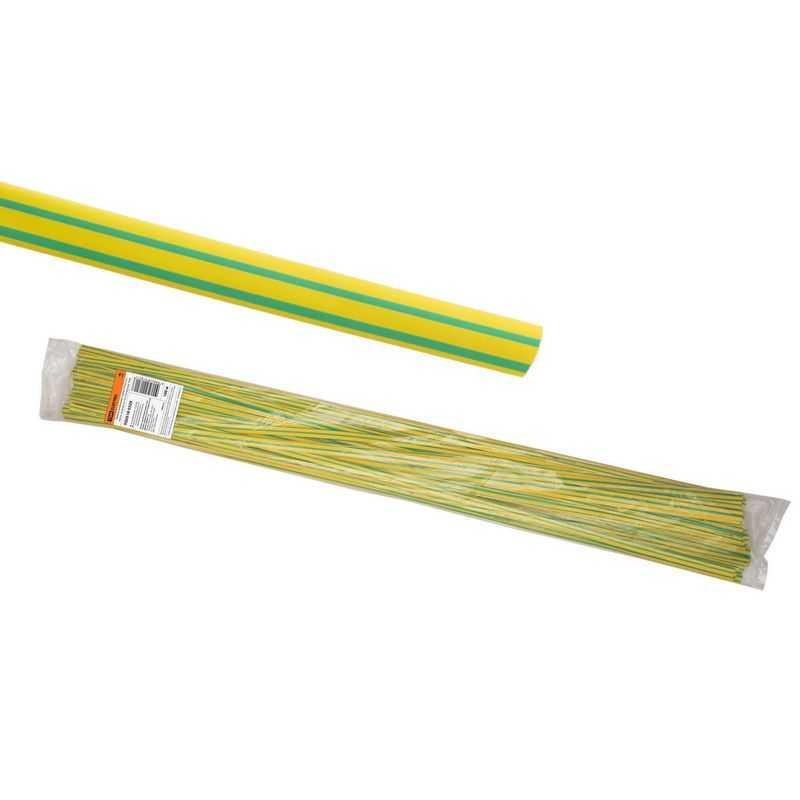 Термоусаживаемая трубка ТУТнг 4/2 желто-зеленая по 1м (100 м/упак) TDM