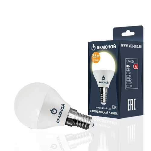 Лампа светодиодная LED шарик 8,5W E14 3000K 220V (LED OPTI G45-8,5W-E14-N) OPTI Включай