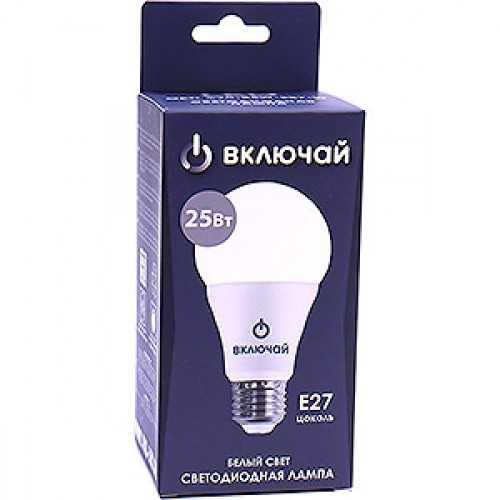 Лампа светодиодная LED А70 25W E27 4000K 220V (LED OPTI А70-25W-E27-W) OPTI Включай